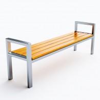 Ławki parkowe Modern ze stali nierdzewnej kod: 0115SN