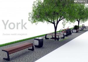 ławki parkowe kosze parkowe donice miejskie York