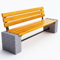 Ławki betonowe Efekt kod: 0126