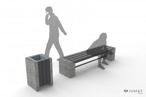 ławki z tworzywa sztucznego mała architektura JUMAT